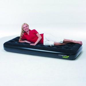 Кровать надувная Bestway Comfort Green Single одноместная ш.76см